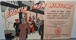 broken show windows insurance blotter