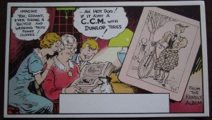 ccm bicycle ink blotter 1940s