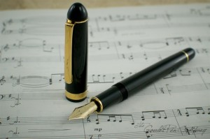 music nib with notes